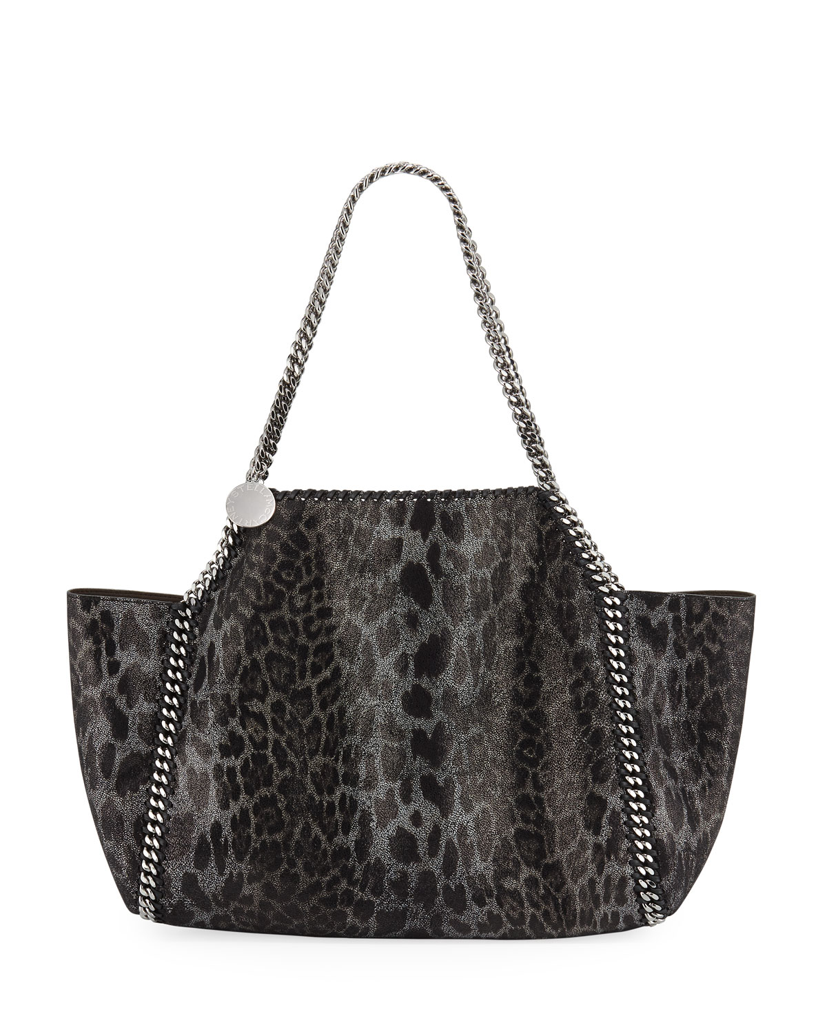 cddfc2e981e0 Stella McCartney Falabella Small Metallic Leopard Reversible Tote Bag