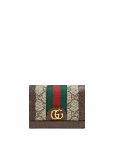 Gucci Ophidia GG Supreme Flap Card Case