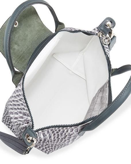 Le Pliage Croco Small Handbag with Strap