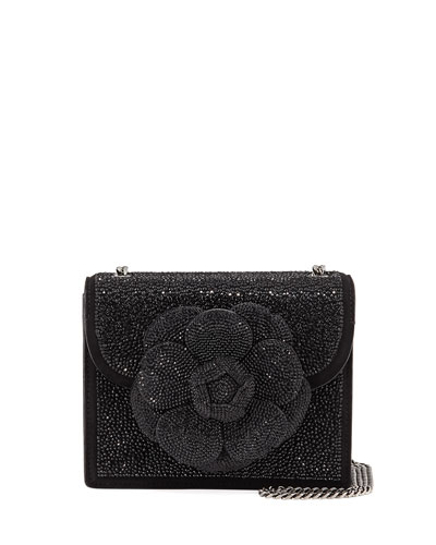Mini TRO Crystal Suede Crossbody Bag