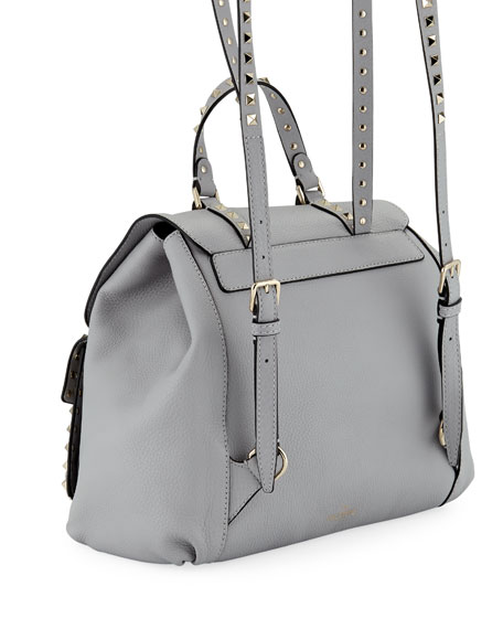 Valentino Garavani Rockstud Double-Pocket Backpack