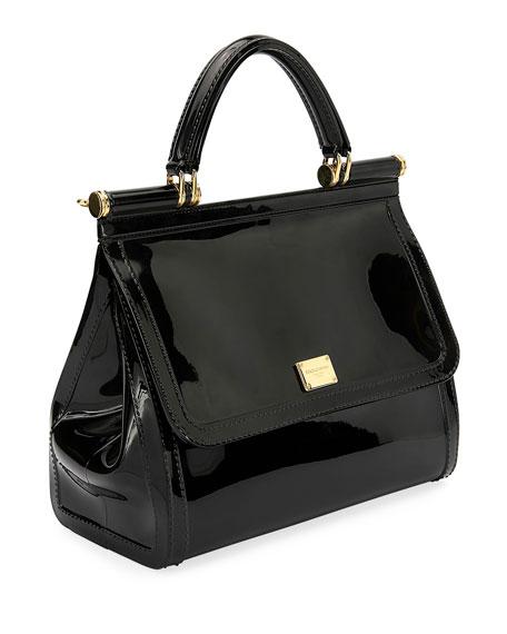 Sicily Large Plus Gomma Plexi Top-Handle Bag