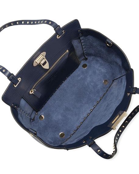 Valentino Garavani Rockstud Small Leather Tote Bag