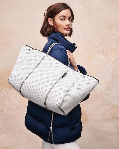 Escape Perforated Tote Bag, White
