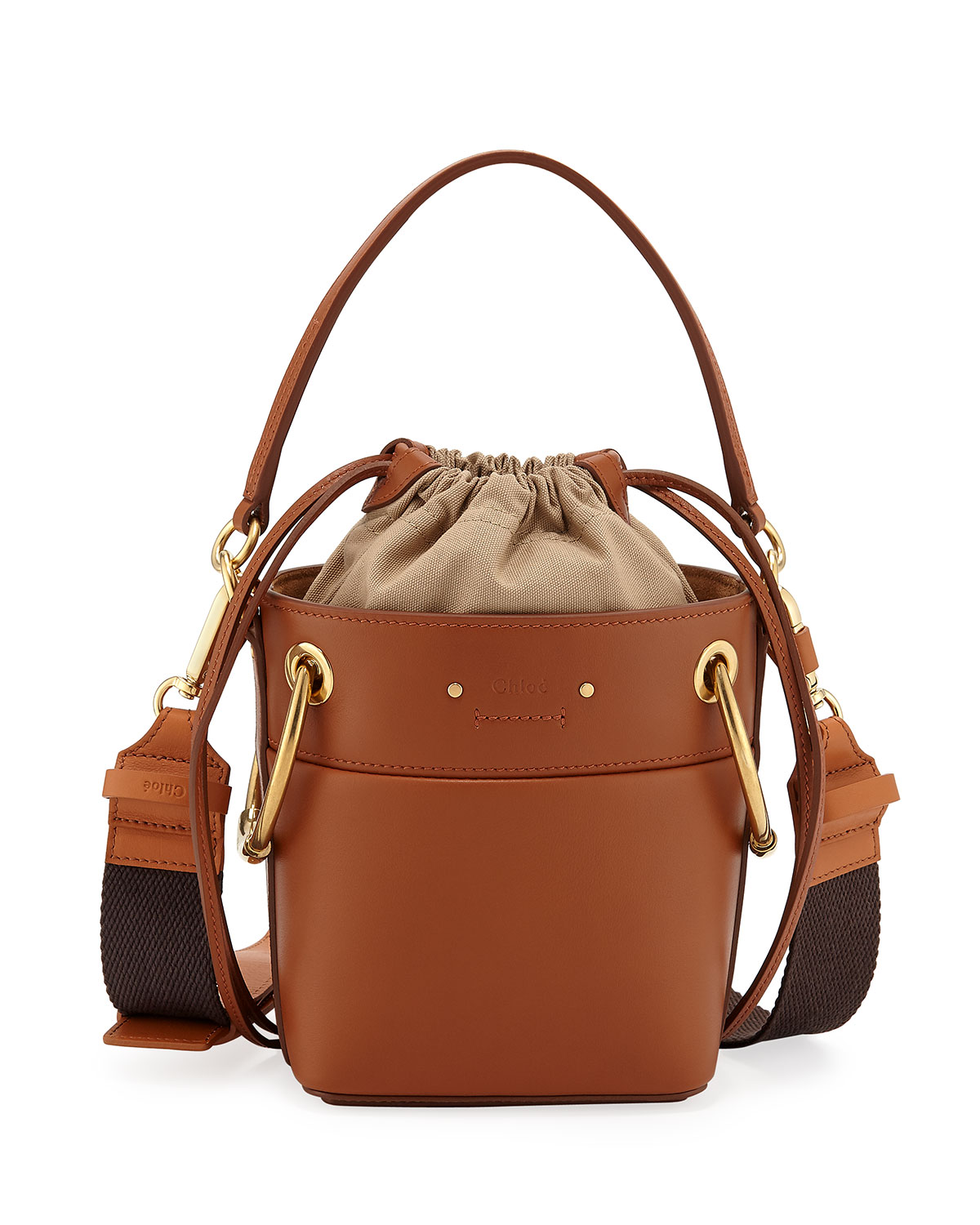 e7614a3dcbf5 Chloe Roy Mini Calf Leather Bucket Bag | Neiman Marcus