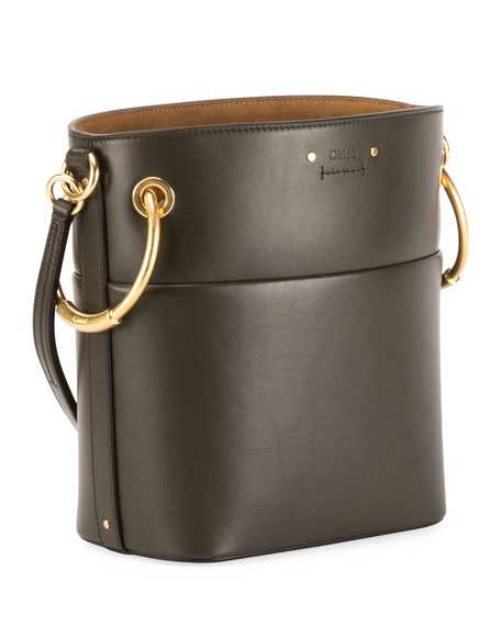 Roy Medium Smooth Leather Bucket Bag