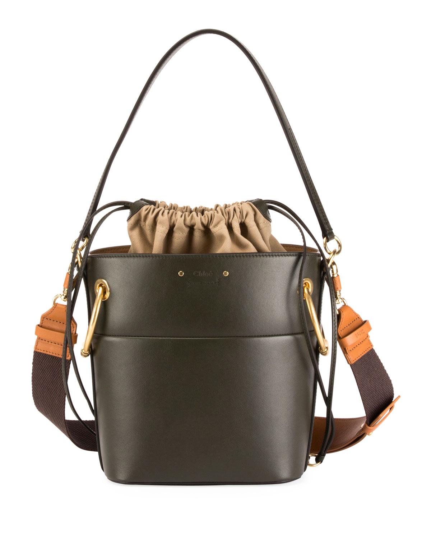 02c9ad0280321 Chloe Roy Medium Smooth Leather Bucket Bag