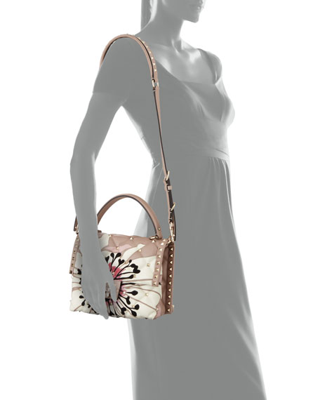 Candystud Quilted Flower Top Handle Bag