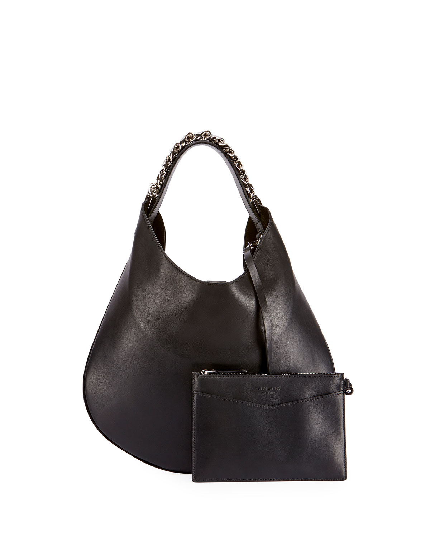 Givenchy Infinity Small Leather Chain Hobo Bag  a5ce08033b1e8
