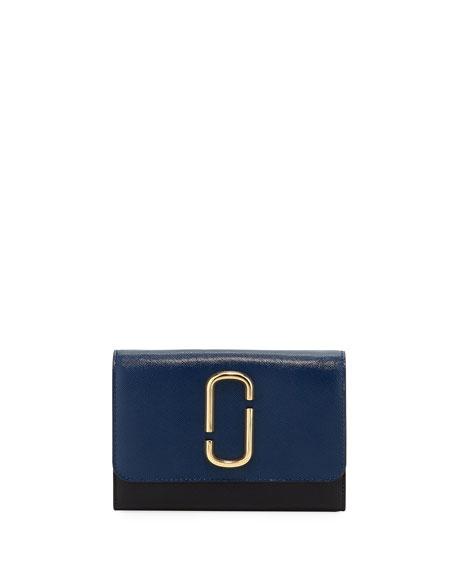 Marc Jacobs Colorblock Crossbody Wallet On Chain