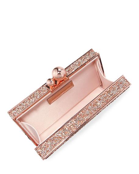 Sophia Webster Clara Crystal Box Clutch Bag, Gold