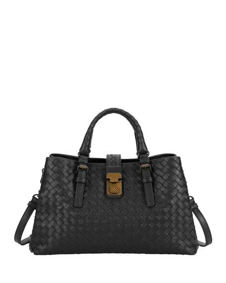 Bottega Veneta Roma Small Woven Top Handle Bag  6f672bd46011c