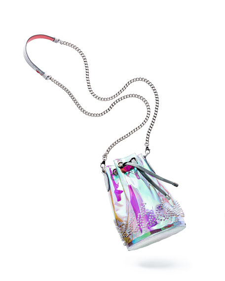 Christian Louboutin Marie Jane Mini GlitterSunset PVC Bucket Bag