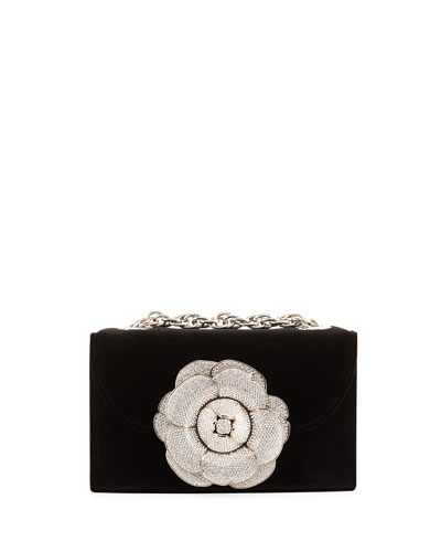 Tro Flower Velvet Crossbody Bag