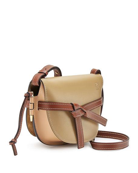 55b96c1e552f Loewe Gate Small Colorblock Shoulder Bag In Taupe