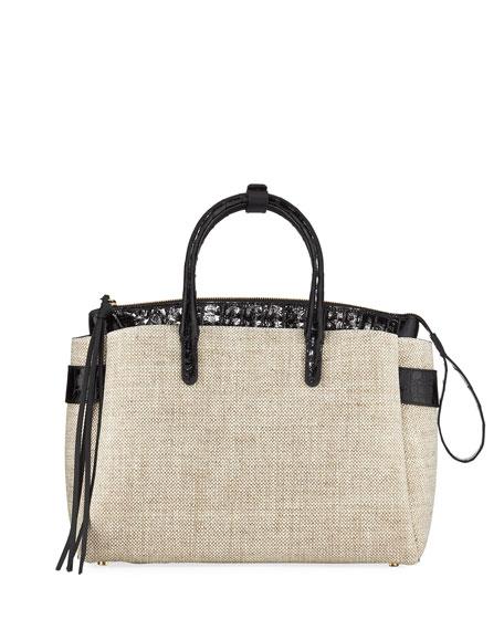 Nancy Gonzalez Cristie Medium Linen Tote Bag