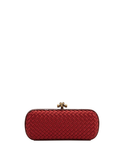 Impero Ayers-Trim Stretch Knot Clutch Bag