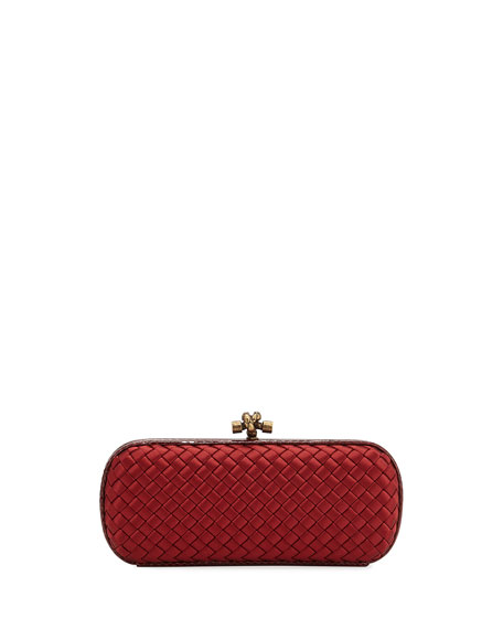 Bottega Veneta Impero Ayers-Trim Stretch Knot Clutch Bag