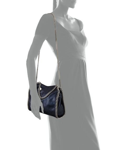 Image 3 of 3: Stella McCartney Mini Falabella Metallic Chain Tote Bag