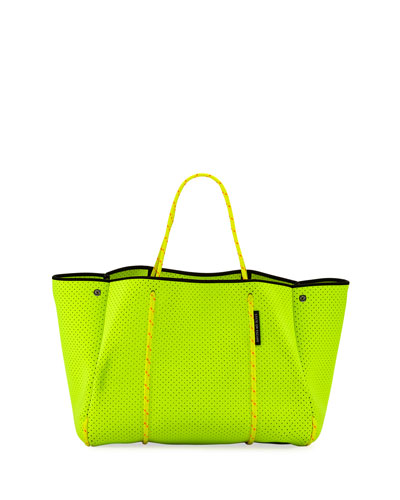Escape Perforated Neoprene Tote Bag  Bright Yellow