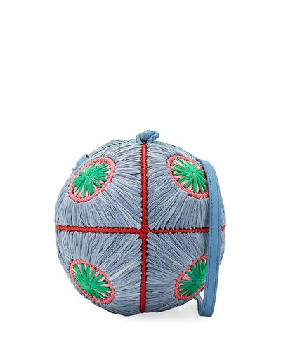 Saba Straw Sphere Crossbody Bag