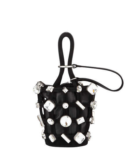 Alexander Wang Roxy Micro Cage Napa Leather Bucket Bag
