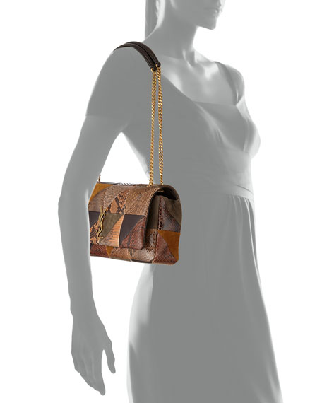 Saint Laurent Jamie Medium YSL Python Patchwork Shoulder Bag