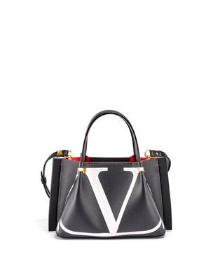 1881555dfe7b Valentino Garavani VLOGO Escape Small Calf Leather Tote Bag