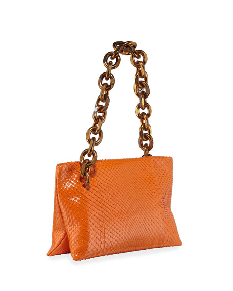 CALVIN KLEIN 205W39NYC Scull Small Soft Python Clutch Bag
