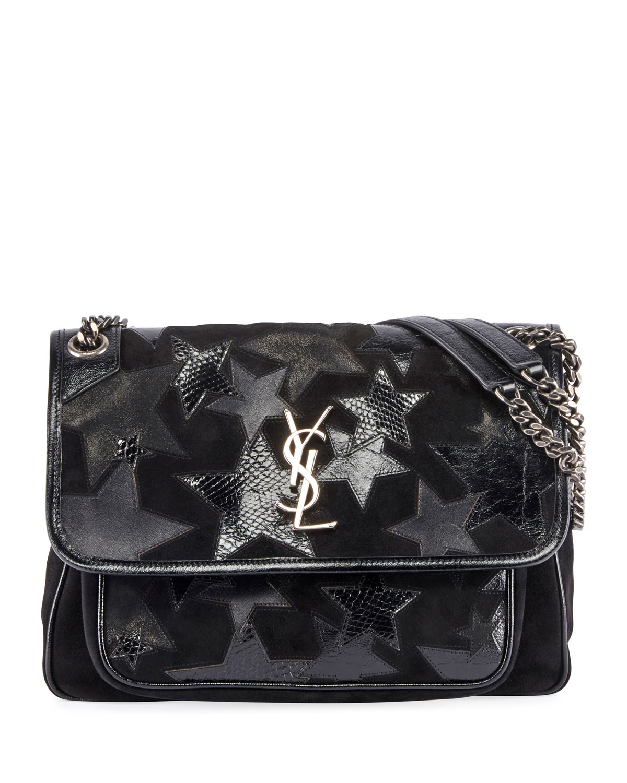 Niki Medium Ysl Monogram Stars Flap Shoulder Bag by Saint Laurent