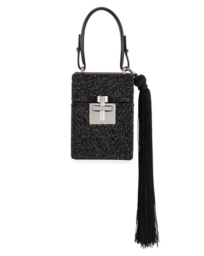 Alibi Box Beaded Top-Handle Bag