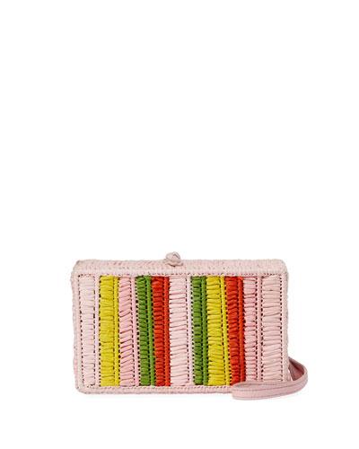 Mia Woven Raffia Belt Bag