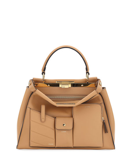 Fendi Peekaboo Utility Top-Handle Tote Bag