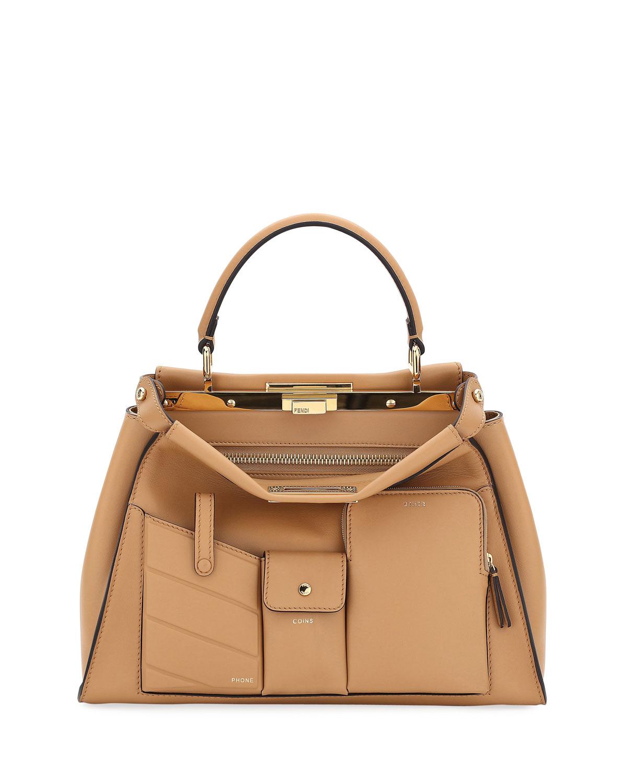 f708a40c31ad4f Fendi Peekaboo Utility Top-Handle Tote Bag | Neiman Marcus