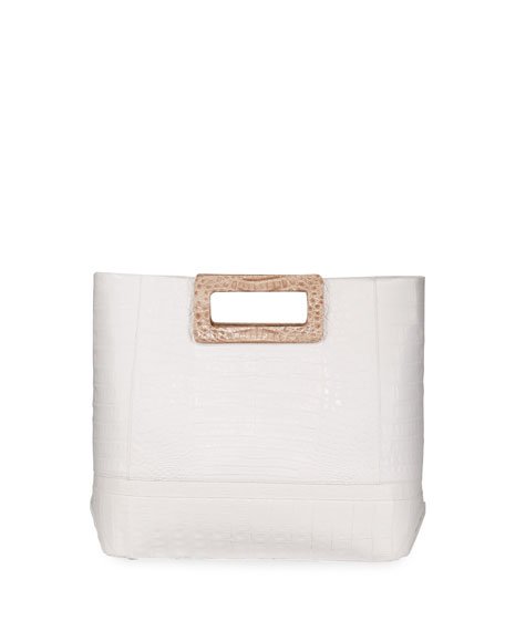 Nancy Gonzalez Keyhole Crocodile Medium Tote Bag