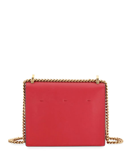 Fendi Kan U Small Matte Grace Leather Crossbody Bag