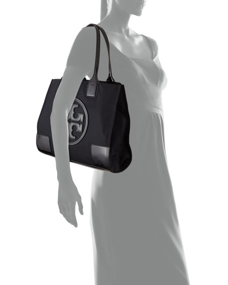 Tory Burch Ella Nylon and Leather Tote Bag