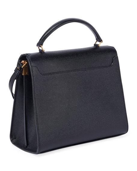 Saint Laurent Cassandra Medium Grain de Poudre Top-Handle Shoulder Bag