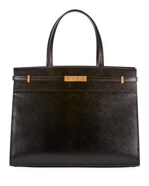 496dedc9b Saint Laurent Manhattan Medium Grained Tote Bag