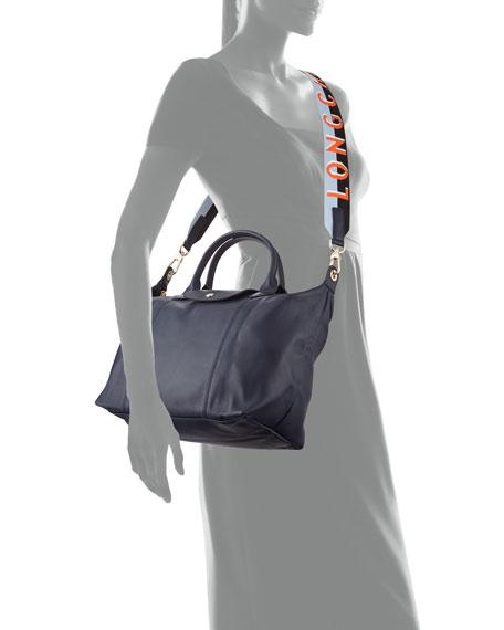 Longchamp Le Pliage Cuir Webbing Medium Tote Bag