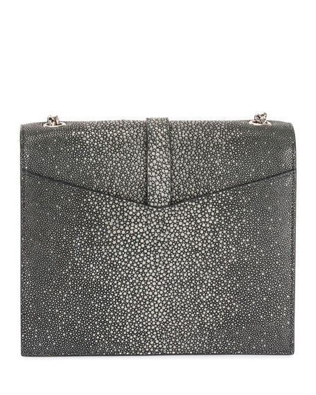 Image 2 of 4: Suplice YSL Monogram Double-Flap Shoulder Bag