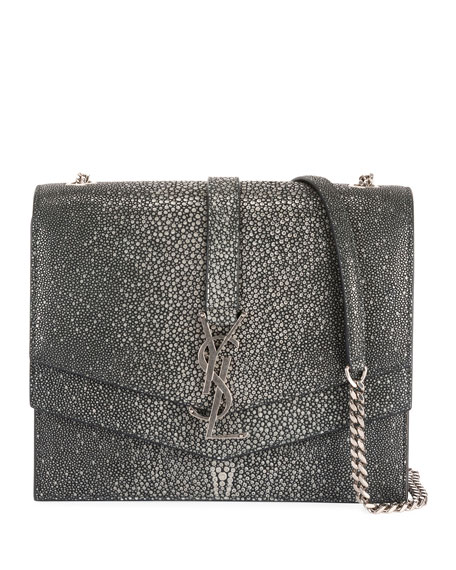 Image 1 of 4: Suplice YSL Monogram Double-Flap Shoulder Bag