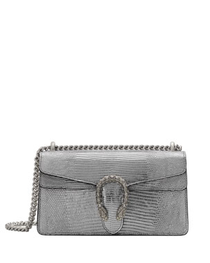 730135ef7 Gucci Dionysus Small Metallic Lizard Shoulder Bag