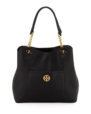 654e8a3d3df Tory Burch Chelsea Slouchy Leather Shoulder Tote Bag