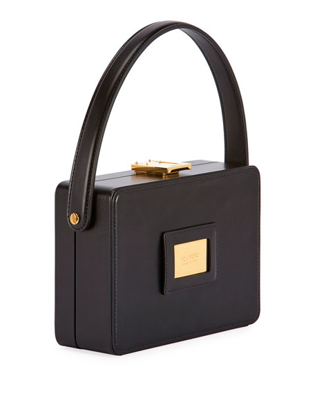 TOM FORD Palmellato Leather Box Bag