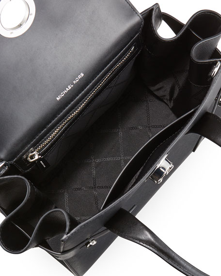 Image 2 of 3: Carmen Small Flap Belted Satchel Bag