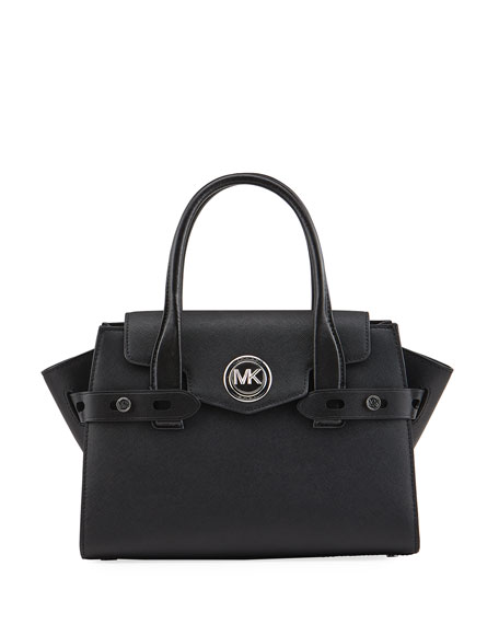 Image 1 of 3: Carmen Small Flap Belted Satchel Bag