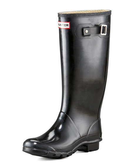 Hunter Boot Huntress Gloss Welly, Black