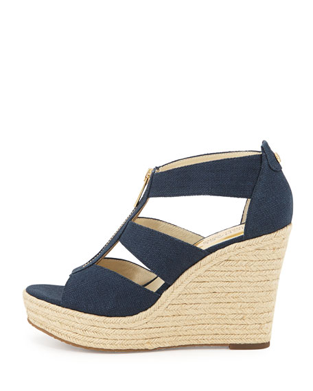 Damita Canvas Wedge