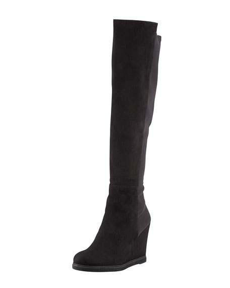 Demiswoon Over-the-Knee Wedge Boot, Black